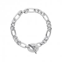 Links of London - Signature, Sterling Silver Charm Chain Bracelet, Size Medium