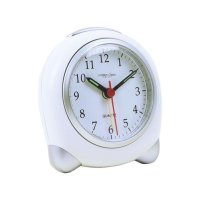 London Clock - Small White X Silver Analogue Alarm