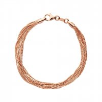 Links of London - Silk, Rose Gold 10 Row Bracelet, Size M