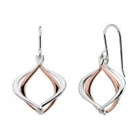 Kit Heath - Infinity Alicia, Sterling Sterling and Rose Gold Plate Drop Earrings