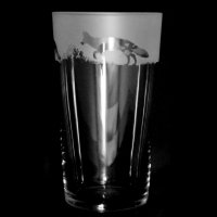 Animo Glass - Frosted Glass Conical Pint Frosted Glass Fox