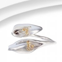 Banyan - Silver Lily Ring, Size P