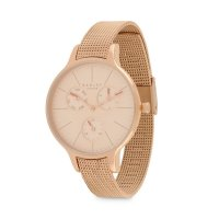 Radley - Soho Mesh Papaya, Rose Gold Mesh Bracelet Multi-dial Watch