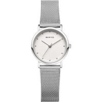 Bering - Classic Ladies, Stainless Steel Mesh Strap Watch