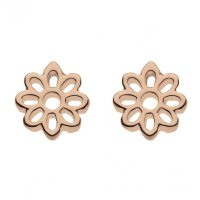 Kit Heath - Rose Gold Plated Set, Silver Madeleine Carved Earrings