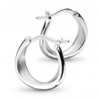 Kit Heath - Silver Coast Shore Hoop Earrings