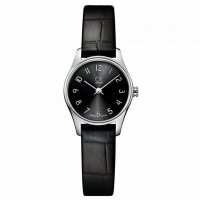 Calvin Klein - Classic, Stainless Steel, Black Leather, Black Arabic Dial Watch