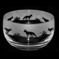 Animo Glass - Fox, Frosted Glass Bowl, Size 12 cm