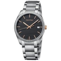Calvin Klein - Men's Alliance, Stainless Steel Rose Gold Dial, Black Face Watch