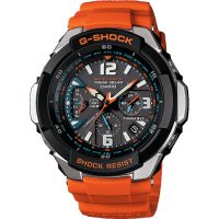 Casio - G-Shock, Stainlesss Steel and Resin Solar Powered, Radio Controlled, Multifunction Watch