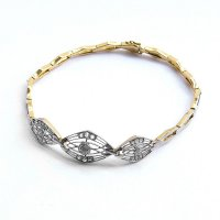 1910 - Diamond Bracelet in Platinum and Yellow Gold