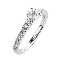 18ct. White Gold and Diamond, Solitaire Ring.
