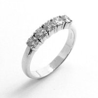 Five Stone Diamond Ring in 18ct. White Gold
