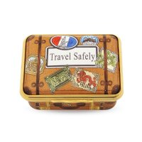 Halcyon Days - Travel Safely, Enamel Pill Box