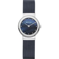 Bering - Classic, Mother Of Pearl Set, Stainless Steel/Tungsten - Milanese Stap Watch