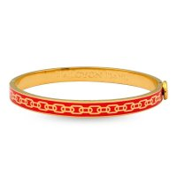 Halcyon Days - Skinny Chain Red & Gold Bangle