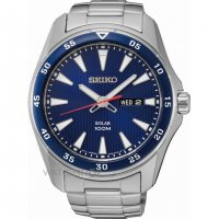 Seiko - Gents Solar, Stainless Steel Day / Date Watch