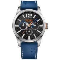 Hugo Boss - Boss Orange, Paris, Stainless Steel and Blue Silicone Watch