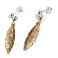 Virtue - Rose Gold Feather, Stud Earrings