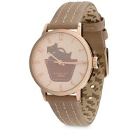 Radley - Border Marsupial, Dusky Pink Leather Strap Watch
