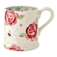 Emma Bridgewater - Rose And Bee, 1/2 Pint Mug