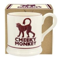Emma Bridgewater - Cheeky Monkey, Half Pint Pottery Mug