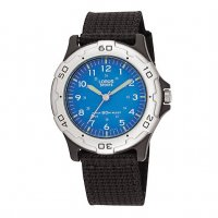 Lorus - Kids, Black Strap with Blue Dial Fabric Strap Watch
