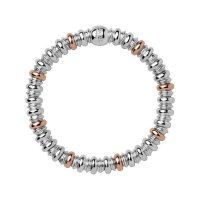 Links of London - Sweetheart, Sterling Silver and 18ct Rose Gold Vermeil Bracelet, Size Medium