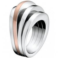 Calvin Klein - Breathe, Stainless Steel, Rose Gold Plated Ring, Size L