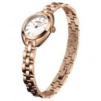 Rotary - Petite Ladies Rose Gold Plate Cocktail Watch