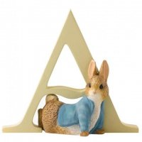 Enesco - Peter Rabbit, Alphabet, Initial A Figurine