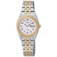 Seiko - Ladies Solar, Two Tone Day / Date Watch