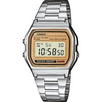 Casio - Classic Retro, Stainless Steel Digital Chronograph Watch