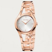 Calvin Klein - Ladies' Class, Rose Gold Plated Silver Dial Watch