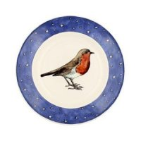 Emma Bridgewater - Robin in a Starry Night, Pottery Plate, Size 8 1/2""
