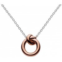 Kit Heath - Amity, Sterling Silver and 18ct. Rose Gold Plate Knot Pendant Necklace, Size 18""