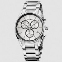 Calvin Klein - Men's Formality, Stainless Steel Silver Chronograph Dial Watch