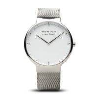 Bering - Max Rene, Stainless Steel White Dial, Interchangeable Strap Watch