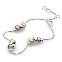 Kit Heath - Rose and Yellow Gold plated, and Silver Coast Tumble Bracelet, Size 16/20cm
