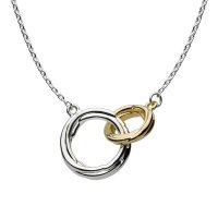 Kit Heath - Infinity Coco Link, Sterling Silver and Gold Plate Necklace