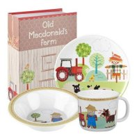 Churchill - Old Macdonald, Melamine 3 Piece Childrens Set