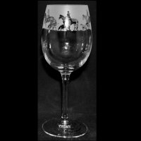 Animo Glass - Hunting, Frosted Wine Glass, Size 35cl