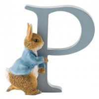 Enesco - Running Peter Rabbit, Alphabet, Initial P Figurine