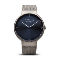 Bering - Max Rene, Stainless Steel Blue Dial, Interchangeable Strap Watch