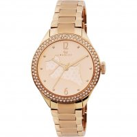 Radley - The Great Outdoors, Rose Gold Plate Leather Strap Watch