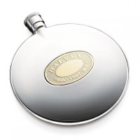 Dalvey - Stainless Steel Gold Detail Classic Flask
