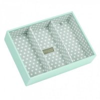 Stackers - Duck Egg Blue / Grey Polka Dot, Classic Deep Jewellery Box