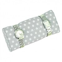Stackers - Duck Egg Blue / Grey Polka Dot, Bracelet / Watch Pad Jewellery Box Accessory