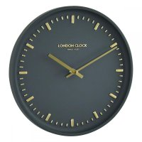 London Clock - Arto Charcoal Wall Clock
