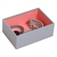 Stackers - Dove Grey with Coral Lining, Mini Watch/Accessories Layer